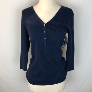NWT Relativity sweater blue with speckles
